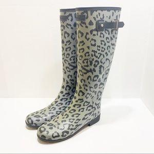HUNTER | Original Tall Leopard Print Boots.